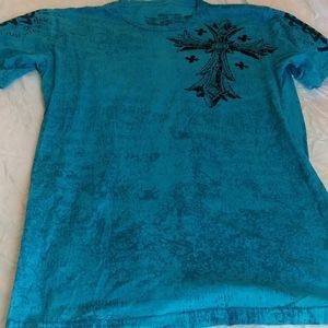 Raw State by Afflicition blue tee sz M